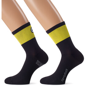 assos CentoSocks_Evo8 Cycling Socks Unisex yellow/black